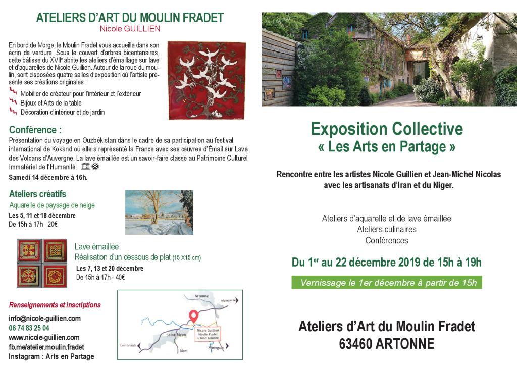 Exposition Collective «Les Arts en partage» du 1er au 22 décembre