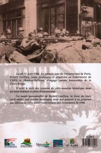 """Dos de couverture du livre """"L'insurrection de Paris"""" par Robert GUILLIEN"""